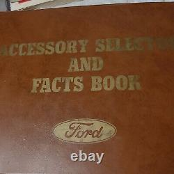 1963 Ford Accessory Selector and Facts Book Galaxie Fairlane Falcon T-bird Van