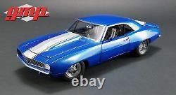 1969 Chevrolet Camaro Blue White Racing Car Nhra Drag Gmp Acme 118 Diecast Z/28