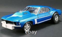 1969 Ford Mustang Gasser Aa Gs The Boss Met Blue 118 Diecast Car Gmp 18913