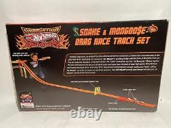 2009 Hot Wheels Drag Strip Demons SNAKE & MONGOOSE Drag Race Track Set Sealed