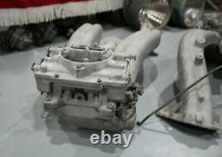 383 413 Chrysler CROSS RAM Intake Manifolds w Carter 2903s Carburetors 1960 1961