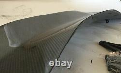 Adjustable Jdm Gt Style 57 Inch 3D Black Carbon Fiber Cf Rear Wing Trunk Spoiler