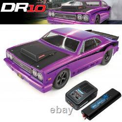 Associated 70028C DR10 1/10 2WD Brushless Drag Race Car RTR Purple with Batt/Chrgr