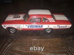 Awb 1965 Pee Wee Wallace Virginian Sedan Drag Race Car Highway 61 Supercar 1/18