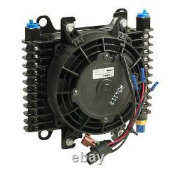 B&M Hi-Tek Transmission Supercooler With 7 Diameter Fan 10 x 7.5 x 4