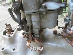 Edmunds 2x2 Dual Carburetor Ford Flathead Intake Manifold with Ford Strombergs
