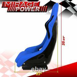 Full Bucket Automotive Car Racing Seats Spg Profi Style With Sliders Blue Cloth