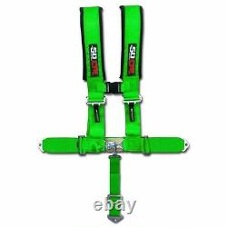 Green Racing Harness Seat Belt 5 Point 2 Ford Chevy Dodge Drag Race Car Truck
