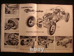HOT ROD MAGAZINE 1950 ScTa Bonneville 1932 Ford Flatead Drag RACING vtg old auto