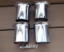 Holley Dominator Carburetor 3 Inch Velocity Stacks Complete Set with Bolt & Claw