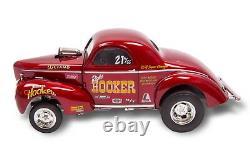 Hooker Headers Weiand 1941 Willys Gasser Blown Hemi Drag Race Acme 118 Gmp Car