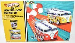 Hot Wheels Classics Mongoose & Snake VW Drag Drag Race Track Set MIB
