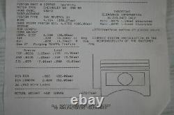 NEW JE 4.184 SB2.2 PISTONS sbc chevy drag race car rod racing diamond