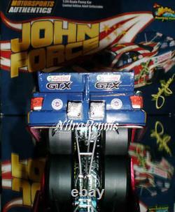 NHRA JOHN FORCE 124 Diecast AMERICAN SOLDIER Funny Car NITRO Drag Racing SIGNED