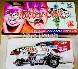NHRA Jim Epler 124 Diecast NITRO Funny Car MOTLEY CRUE Drag Racing TOP FUEL