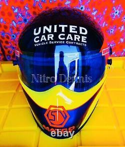 NHRA Jim Epler RACE WORN Used HELMET Funny Car NITRO Rare DRAG RACING Matco