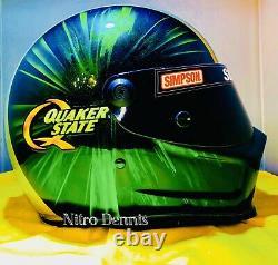 NHRA Tony Pedregon RACE WORN Used HELMET Funny Car NITRO Rare DRAG RACING Signed