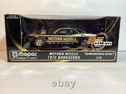 New 118 1972 Cuda. Motown Missile. #10 in Commemorative Series. Limited Ed