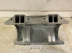 Old School Weiand #1987 Hi-ram 426 440 Mopar Rb Tunnel Ram 2x4 Intake Manifold