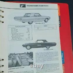 Original 1963 Ford Dealer Facts Book Fairlane Galaxie Falcon Van Thunderbird