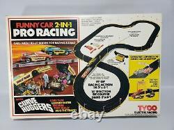Rare Old Vintage 1976 Tyco Ho Pro Drag Racing Funny Cars Slot Car Race Set #8207