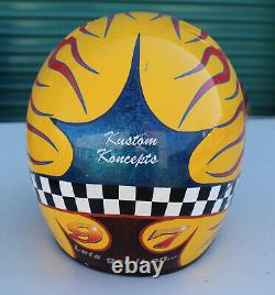 Simpson Custom Painted Flames Drag Sprint Car Racing Motorcycle Helmet Venard