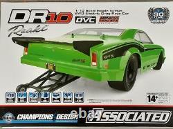 Team Associated DR10 RTR Brushless Drag Race Car Green 70026 Brand New