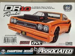 Team Associated DR10 RTR Brushless Drag Race Car Orange with2.4GHz Radio & DVC New