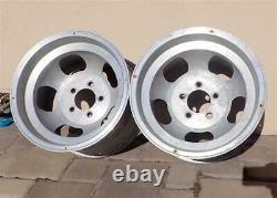 Vintage 15x10 Aluminum Slot Mag Wheels 5 on 4.75 Bolt Pattern GM Cars REAL DEAL