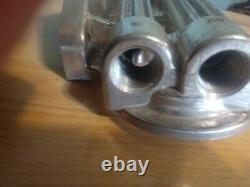 Vintage Dual oil Filter remote mount aluminum Hot rod/marine Race Car