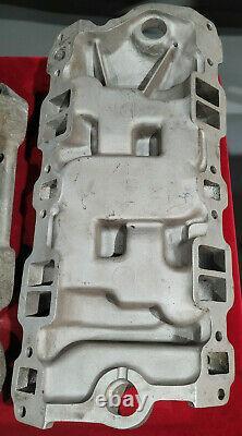 Vintage WEIAND 4X2 Intake Manifold Hot Rod GaSSer Drag RACING SBC V8 Stromberg