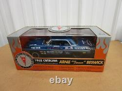 1/18 1962 Pontiac Catalina Arnie Farmer Beswick Drag Racing Ertl Diecast Bleu