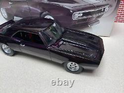 1/18 Gmp 1968 Chevrolet Drag Camaro Unité Échangée Pourpre Sn# 0303 Voir Les Photos
