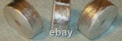 10 Rolls Exhaust Wrap V8 30' X 2 Aluminium Header Wrap/ties Sbc/302 Têtes De Course