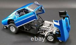 1969 Ford Mustang Gasser Aa Gs Le Patron Met Blue 118 Diecast Car Gmp 18913