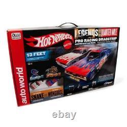 Auto World Hot Wheels Snake II Vs Mongoose II 13' Dragstrip Ho Slot Car Race Set