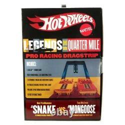 Aw Hot Wheels Legends Of 1/4 Mile Snake Vs Mongoose Ho Slot Car Drag Racing Set