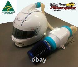 Casque Fresh Air Blower Fan Kit Speedway Burnout Drag Race Car Ford Holden