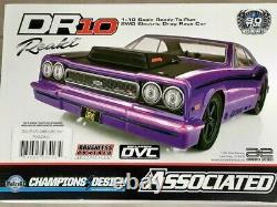 Équipe Associée Dr10 Rtr Brushless Drag Race Car Purple Radio Batterie & Chargeur