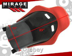 Full Bucket Automotive Car Racing Seats Jdm Track Style With Sliders Paire Rouge