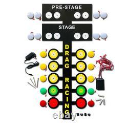 Grande Led Light Up Drag Tree Racing Metal Sign Décoration D'art Garage 3 Ft Tall