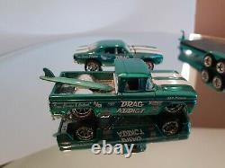 Hot Wheels Ralphs Customs Drag Addict'62 Chevy,'67 Camaro Race Team With Trailer