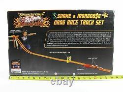 Hot Wheels Snake & Mongoose Drag Race Track Set Orange Strip Et 164 Scale