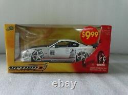 Jada Option D Nissan Silvia S15 Drift White! 124 Échelle Diecast Import Racer Voiture