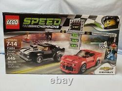 Lego Speed Champions 2016 Chevrolet Camaro Drag Race Noir Rouge 445 Pièces 75874