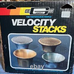 M. Gasket Velocity Stack Deuxième Jour Des Années 1960 1970's 1980 Muscle Tunnel Ram Withbox