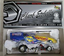 Nhra Chuck Etchells 124 Diecast Camaro Funny Car Drag Racing Sunoco Rare Nib