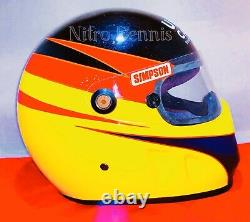 Nhra Jim Epler Race Worn Voiture Drôle Helmet Utilisé Nitro Racing Rag Rare Matco