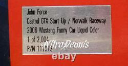 Nhra John Force 124 Diecast Soldat Américain Funny Car Nitro Drag Racing Signé