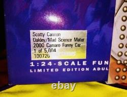 Nhra Scotty Cannon 124 Diecast Nitro Oakley Funny Car Action Drag Racing Signé
